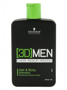Schwarzkopf§3D Men Hair & Body Shampoo 250ml
