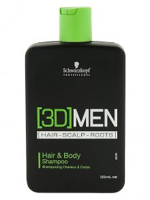 3D Men Hair & Body Sh 250ml
